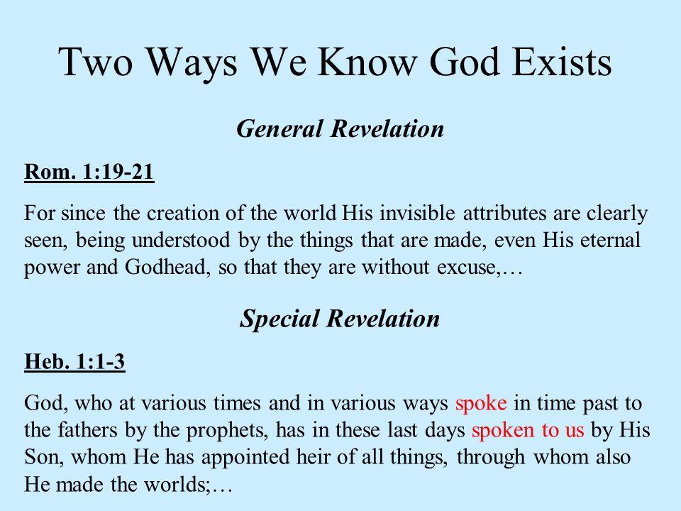 General Revelation Rom.