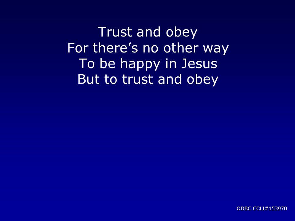 ODBC CCLI#153970