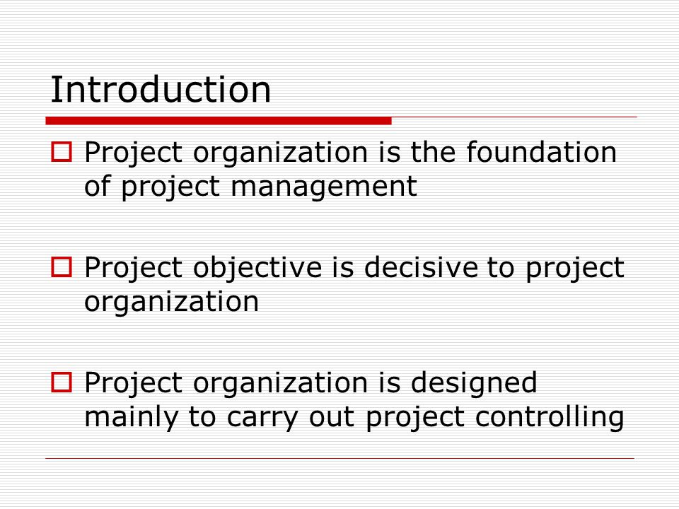 Comparison of Various Organization Structures Functional Matrix Project Light- weight BalancedHeavy- weight Project manager ' s power Few or none LimitedmiddleStrongFully authorized Percentage of full time members None0 – 25%15 – 60%50 – 95%85 – 100% Project manager position Part-time Full-time Title for project manager Project Coordinato r Project Manager Project administrative personnel Part-time Full-time