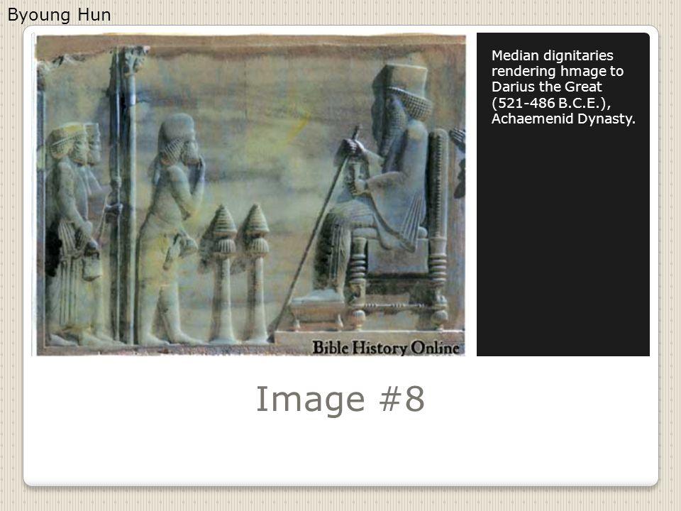 Image #8 Median dignitaries rendering hmage to Darius the Great (521-486 B.C.E.), Achaemenid Dynasty.