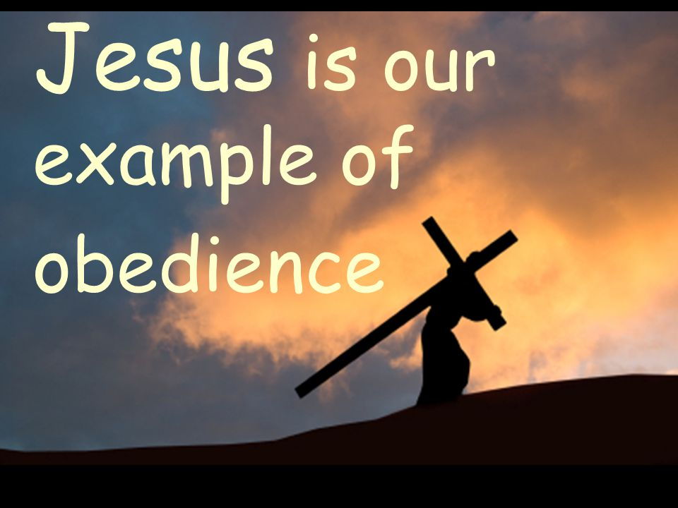 Jesus is our example of obedience