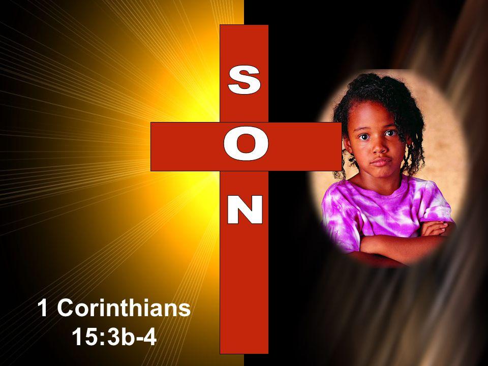 1 Corinthians 15:3b-4