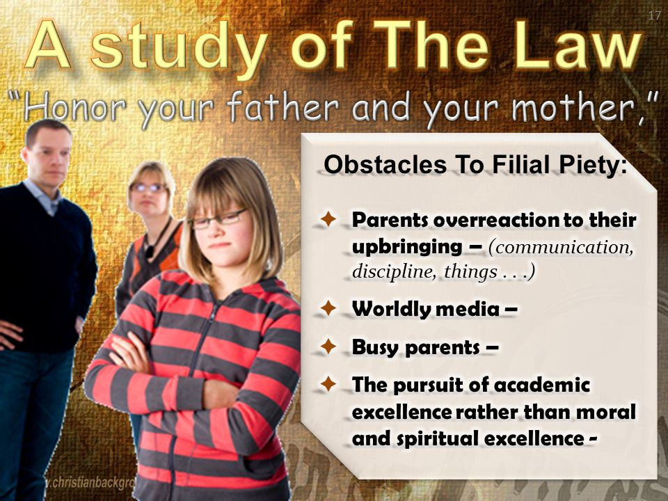 17 Obstacles To Filial Piety: