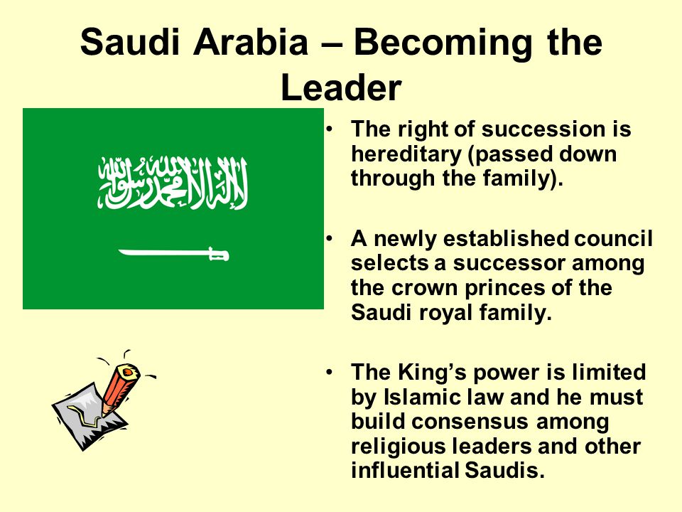 Saudi Arabia – Role of Citizen The role of the citizen in Saudi Arabia is to obey the King.