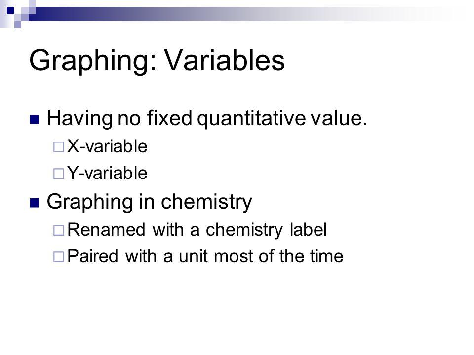 Graphing: Variables Having no fixed quantitative value.