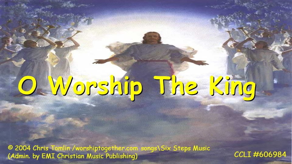 O worship the King All glorious above And gratefully sing His wonderful love O worship the King All glorious above And gratefully sing His wonderful love