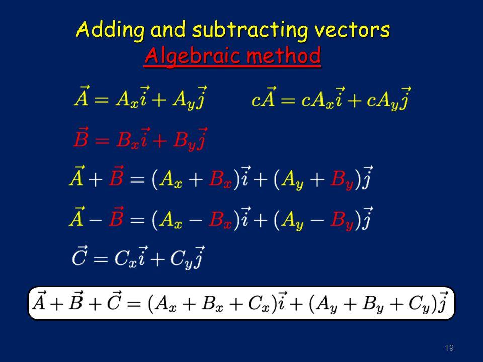 19 Adding and subtracting vectors Algebraic method