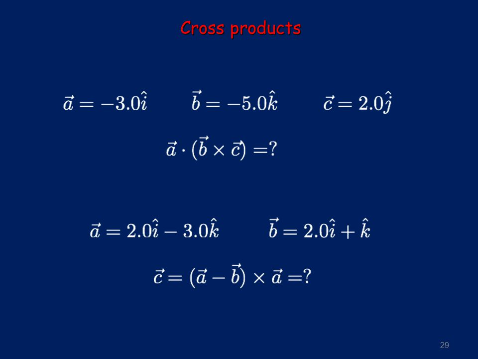 29 Cross products
