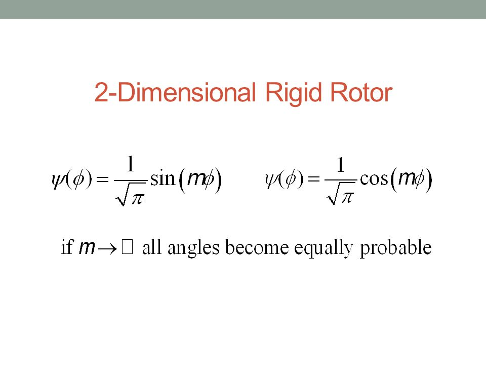 Rotor Orientation From Spherical Harmonic Wavefunctions