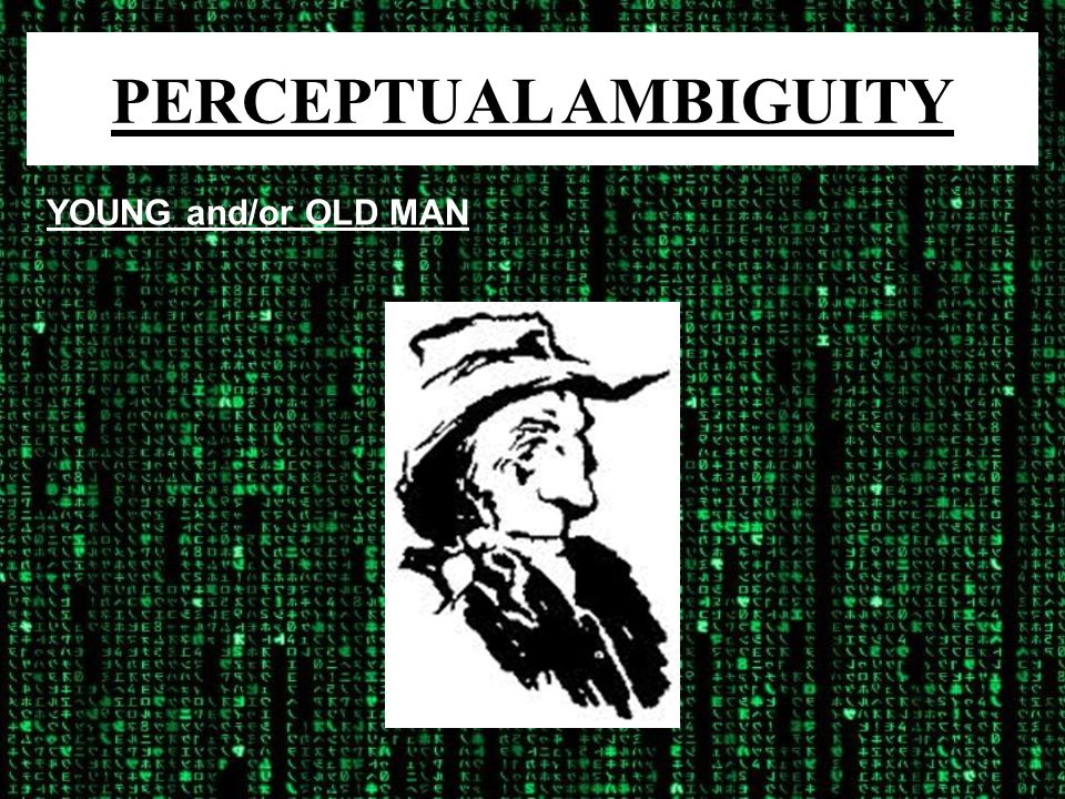 PERCEPTUAL AMBIGUITY YOUNG and/or OLD MAN