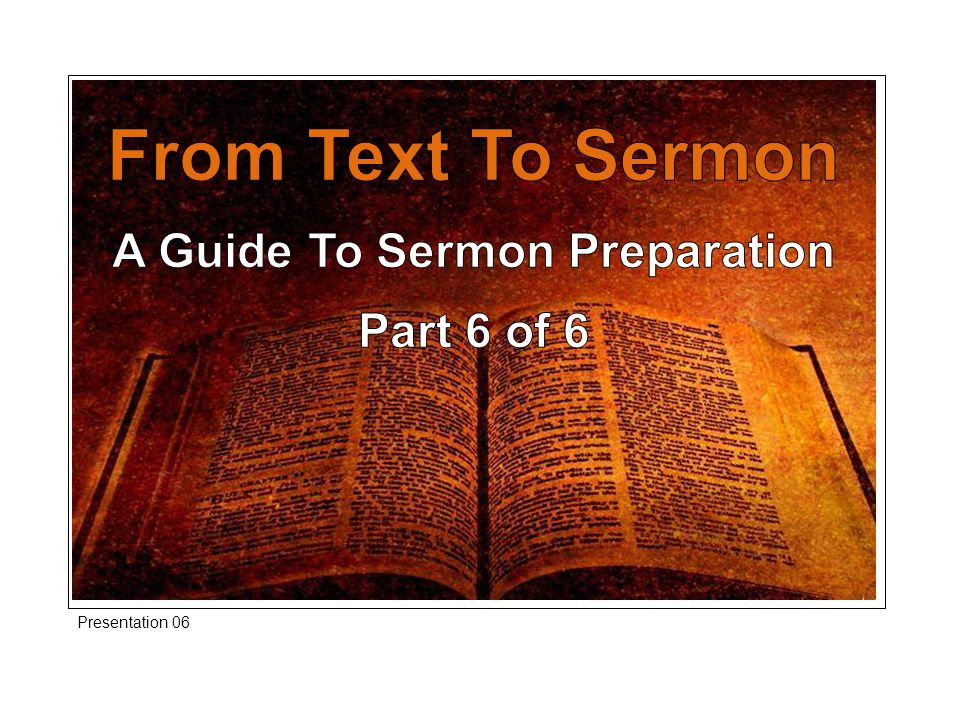If the process of preparation of the text of scripture thus far has neither, stimulated your mind nor, warmed your affections then that will be conveyed in the pulpit.