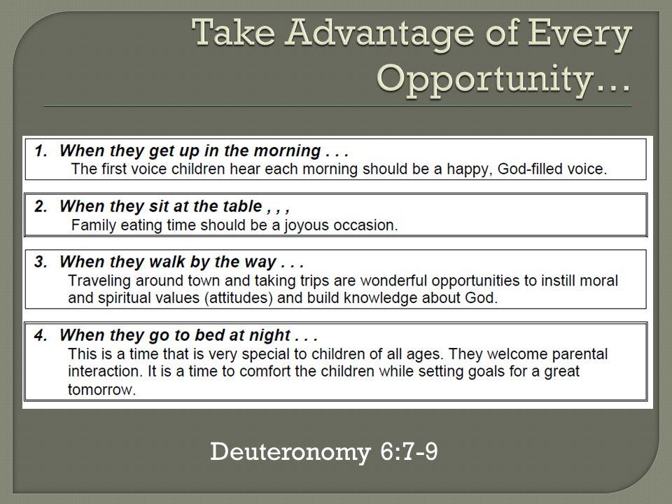 Deuteronomy 6:7-9