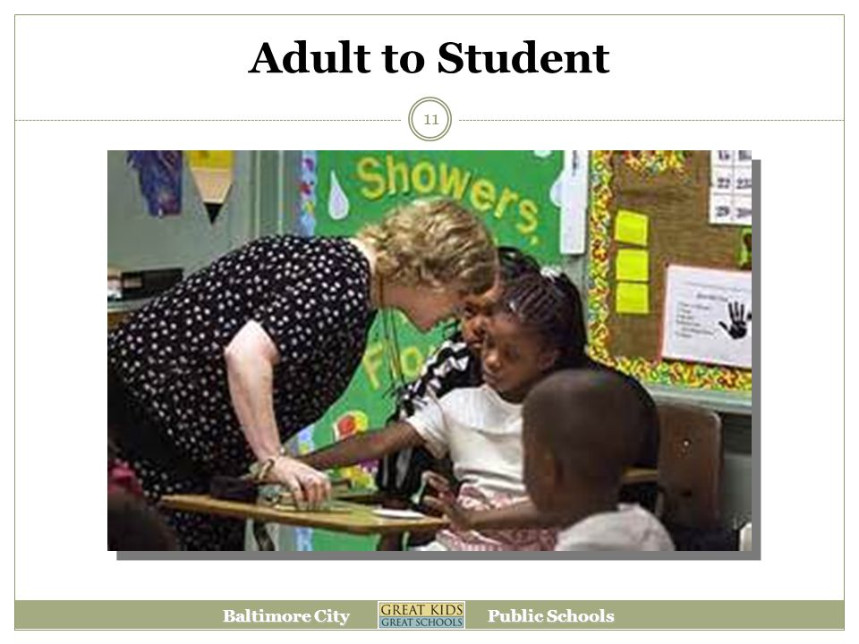 Baltimore City Public Schools Adult to Student 11