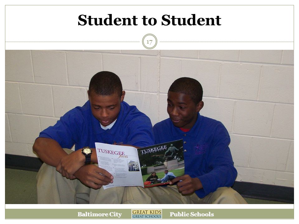 Baltimore City Public Schools Student to Student 17