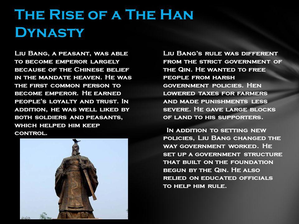 In 140 B.C.Emperor Wudi ( woo-dee) took the throne.