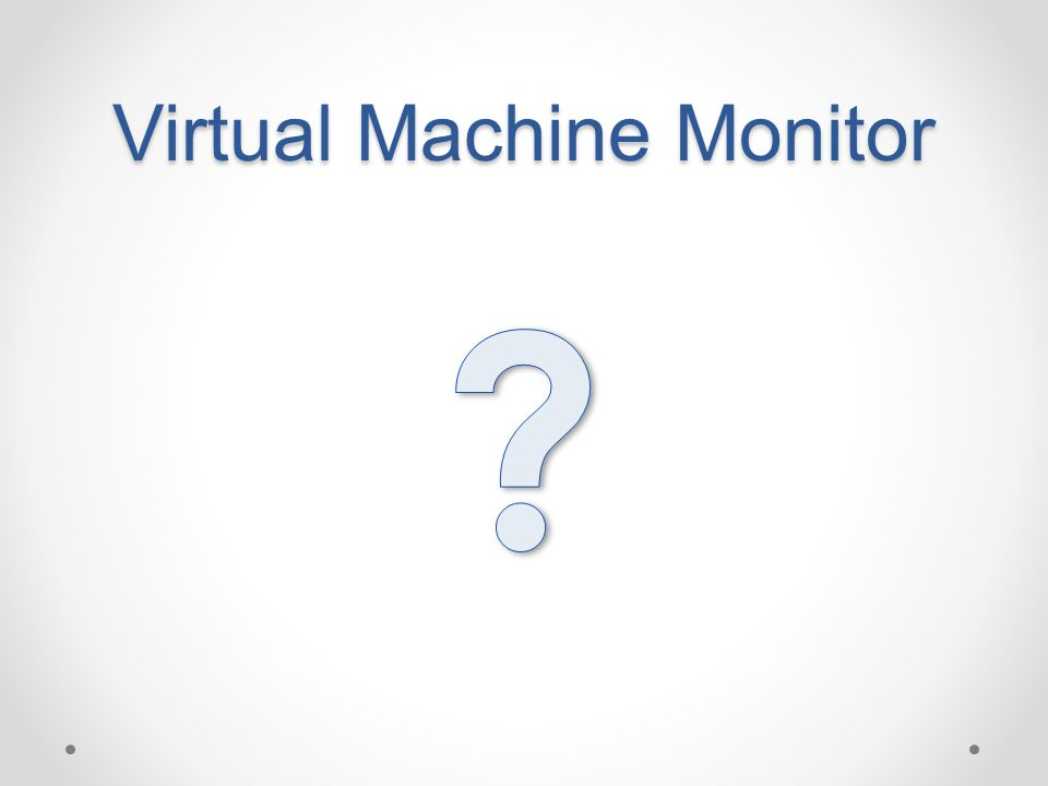 Virtual Machine Monitor