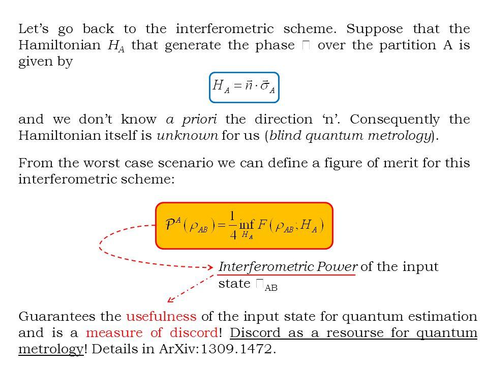 Let's go back to the interferometric scheme.