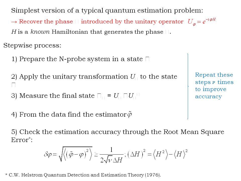 Two important limits for this interferometric-measurement scheme for phase estimation * (  1, g the largest Hamiltonian gap): * V.