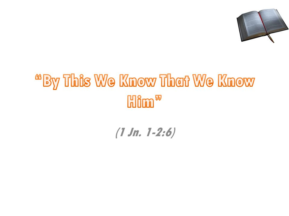 (1 Jn. 1-2:6)