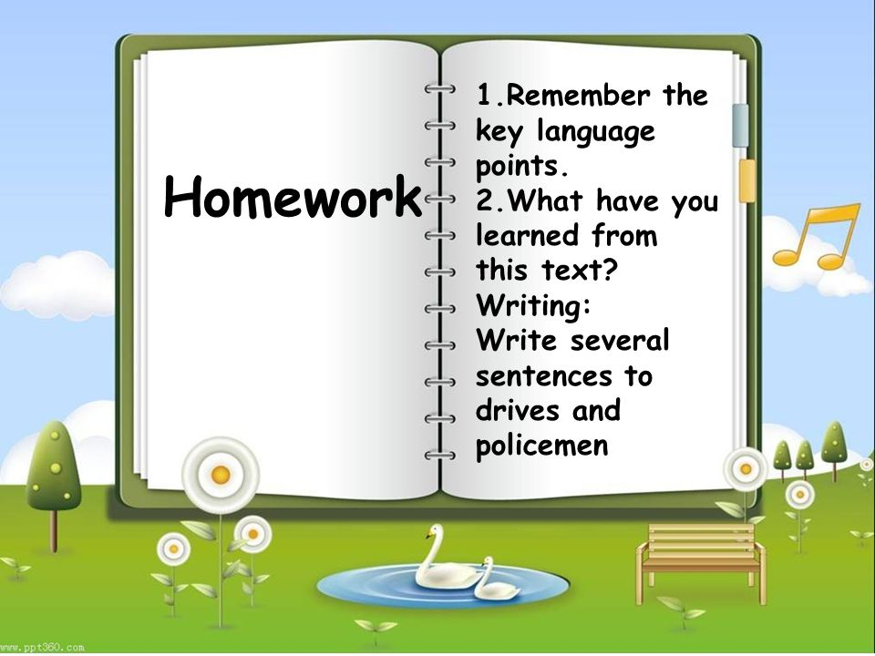 Homework 1.Remember the key language points. 2.What have you learned from this text.