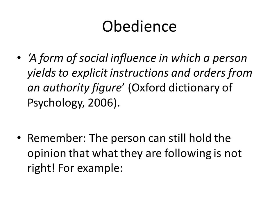 Recap Who are we obedient to.What do they have in common.