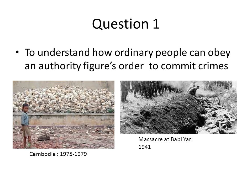 Question 2: What factors aided Obedience in the study.
