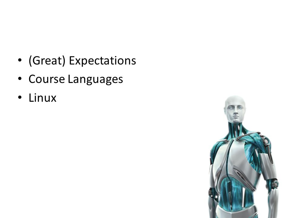 (Great) Expectations Course Languages Linux