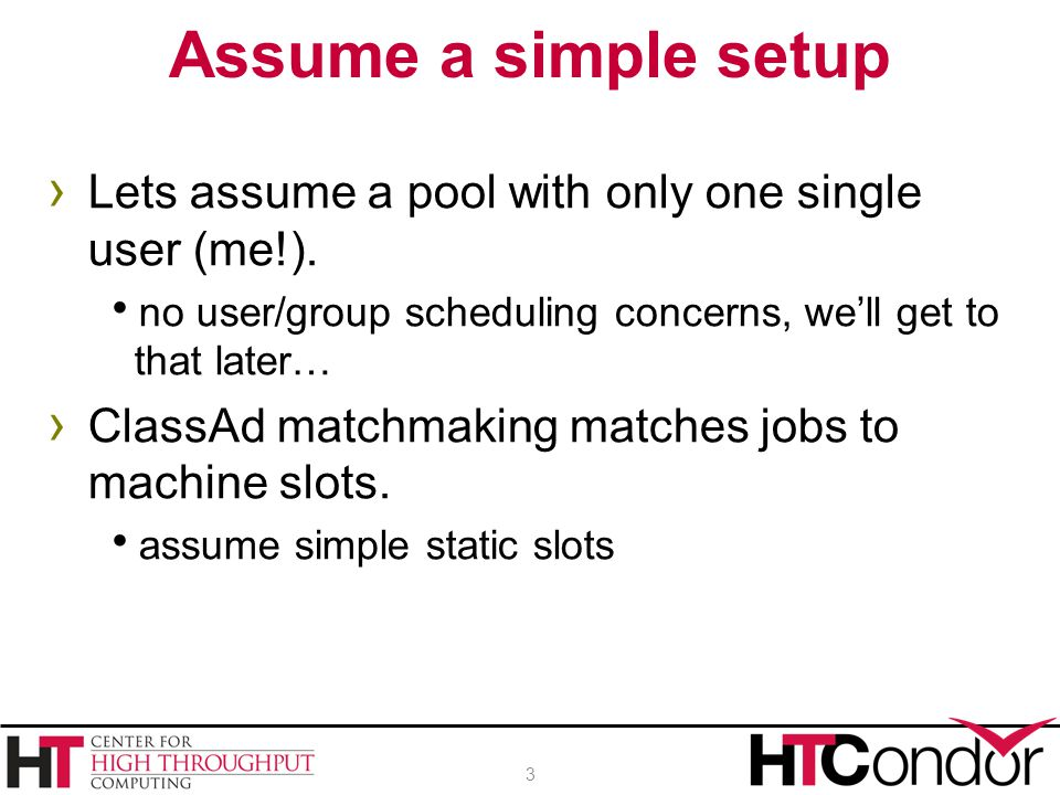 › Lets assume a pool with only one single user (me!).