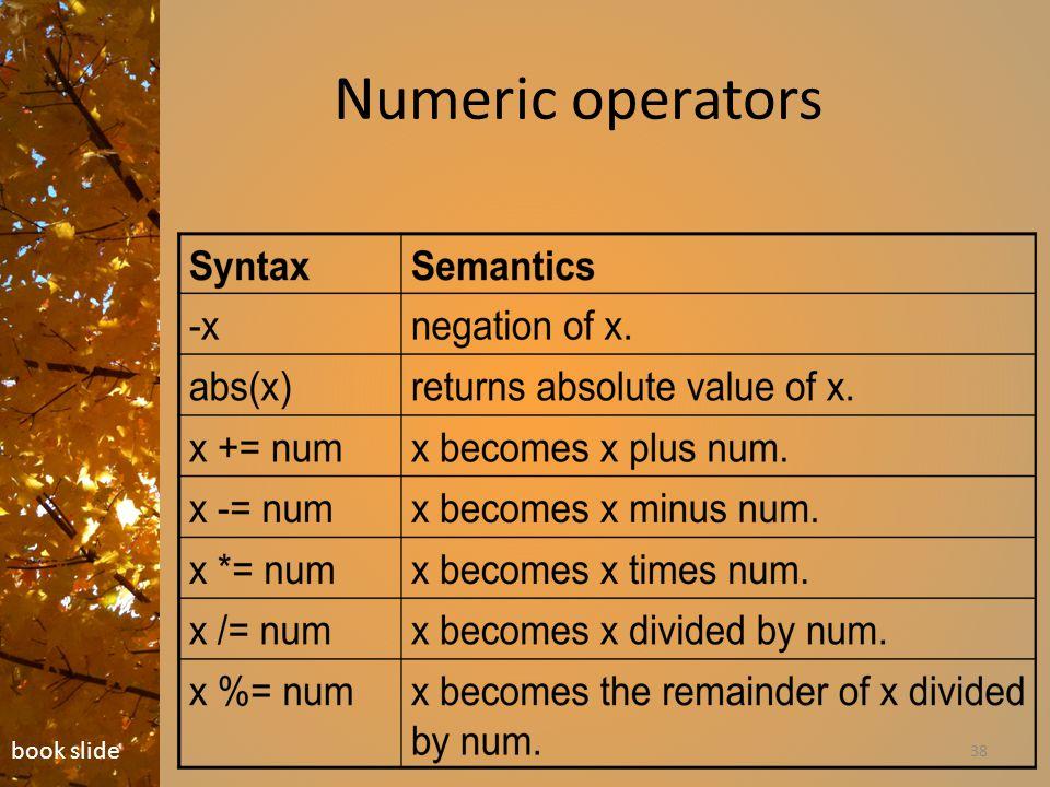 Numeric operators 38 book slide