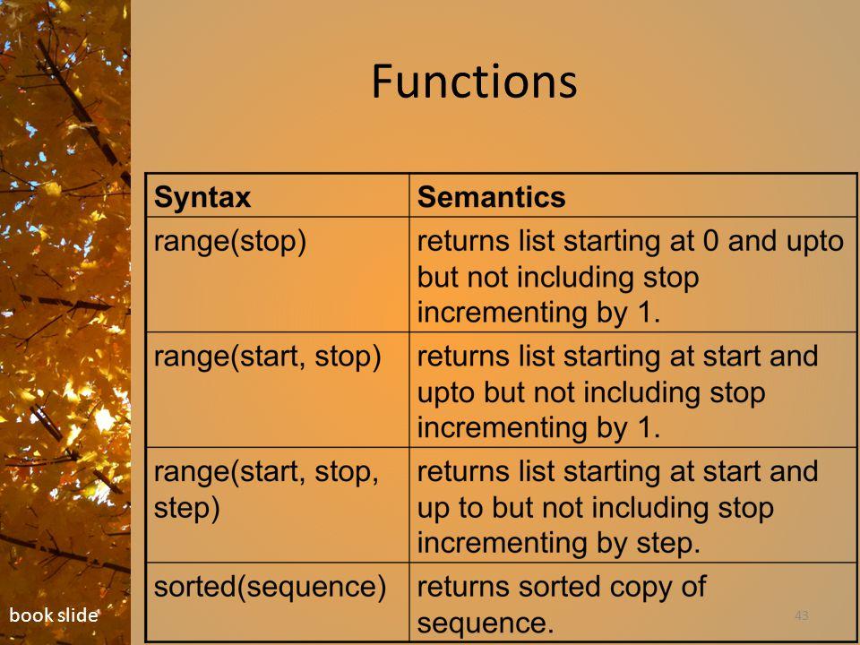 Functions 43 book slide