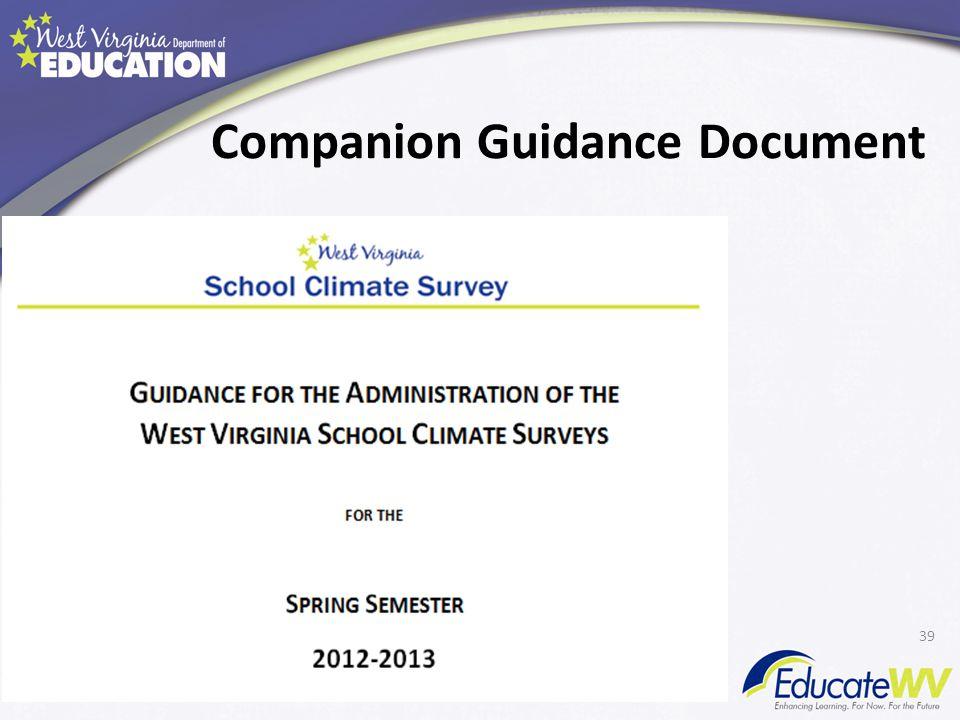 Companion Guidance Document 39