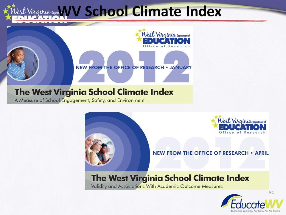 54 WV School Climate Index