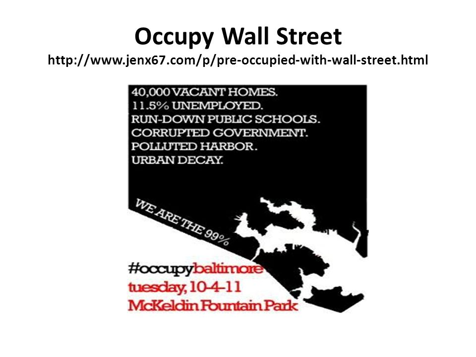 Occupy Wall Street http://www.jenx67.com/p/pre-occupied-with-wall-street.html