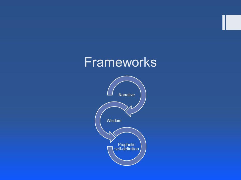 Frameworks Narrative Wisdom Prophetic self-definition