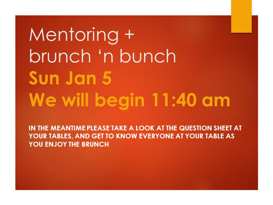 What's happening  Rundown of events  Concepts of mentoring  Interview with Christine and Louise  Next steps  Quiz time and closing