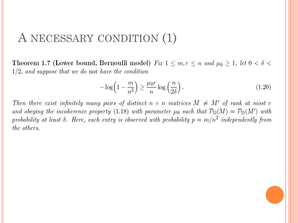 A NECESSARY CONDITION (1)