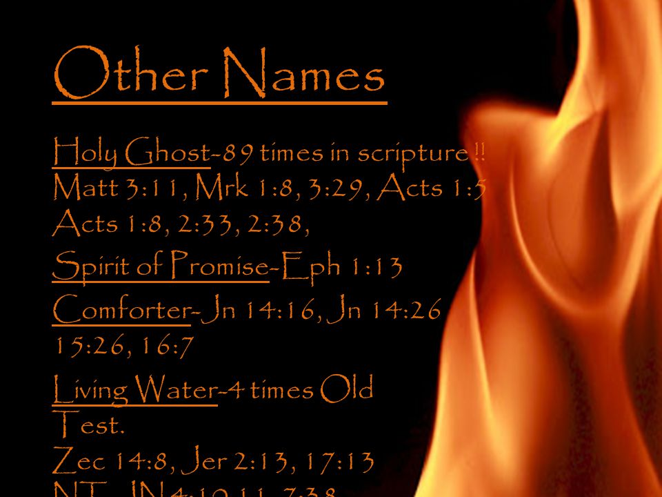 Other Names Holy Ghost-89 times in scripture !.