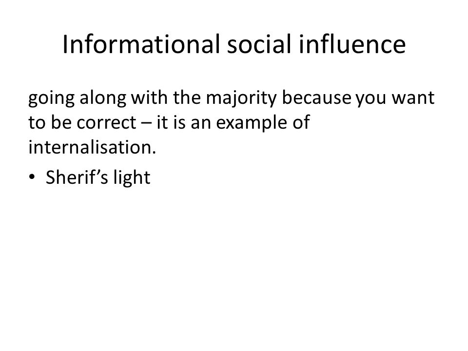 Social influence in everyday life Explanations of independent behaviour, including locus of control, how people resist pressures to conform and resist pressures to obey authority How social influence research helps us to understand social change; the role of minority influence in social change