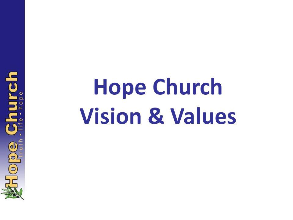 Hope Church Vision & Values