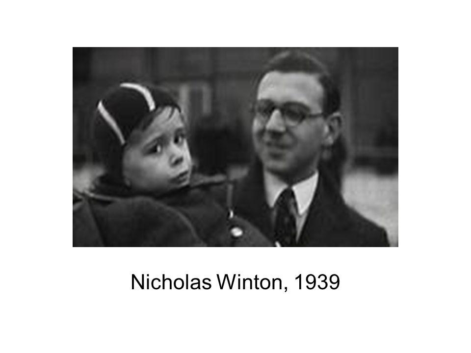 Nicholas Winton, 1939