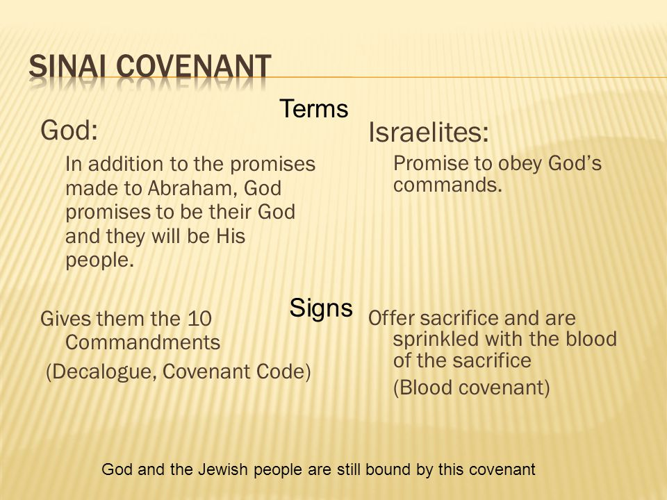 God: In addition to the promises made to Abraham, God promises to be their God and they will be His people.