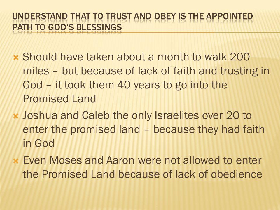  Trust Him  Obey Him