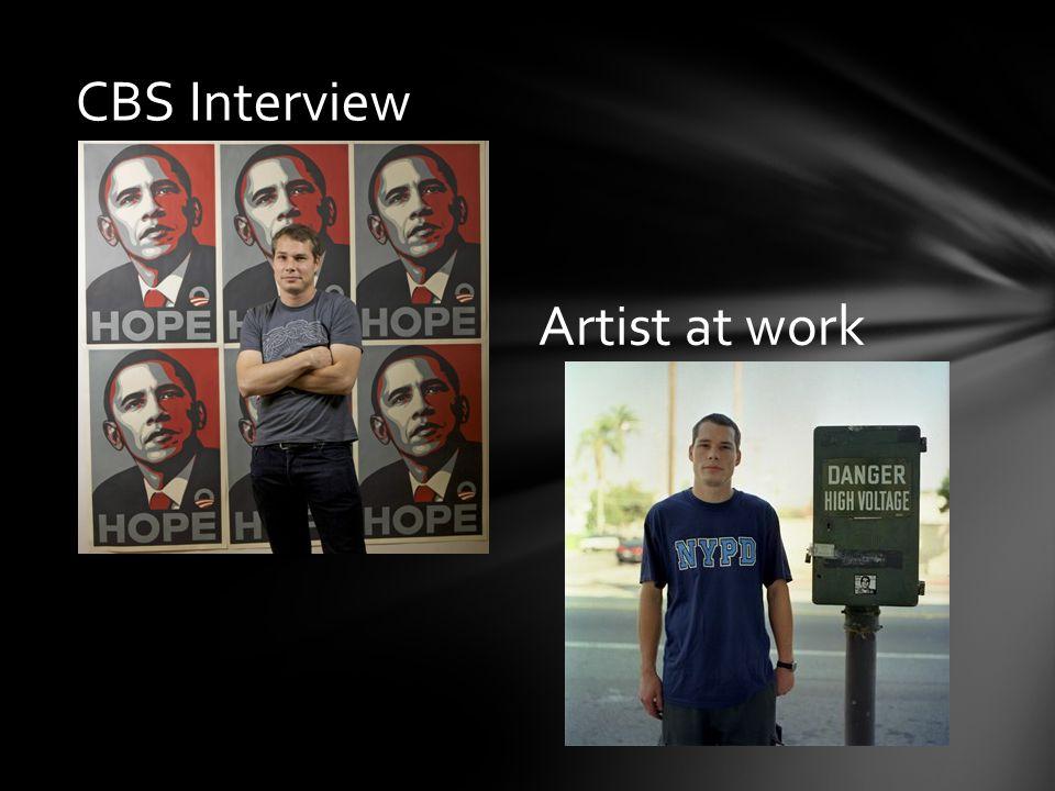 CBS Interview Artist at work