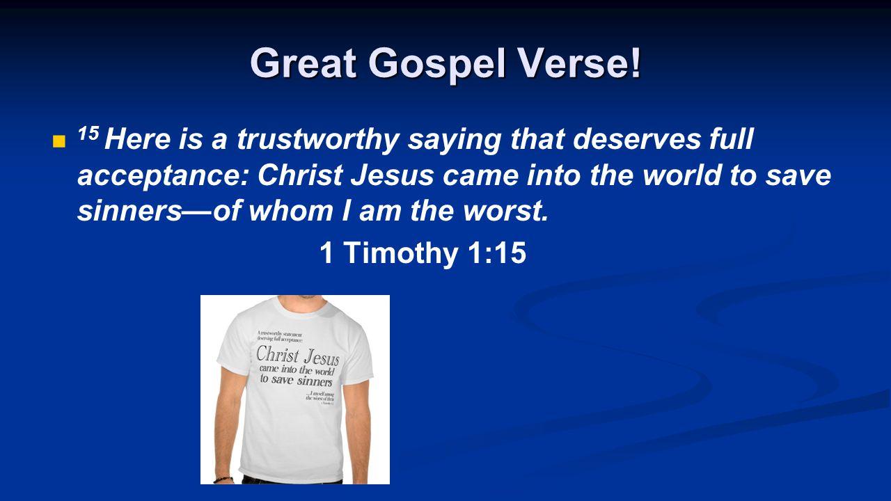 Great Gospel Verse.