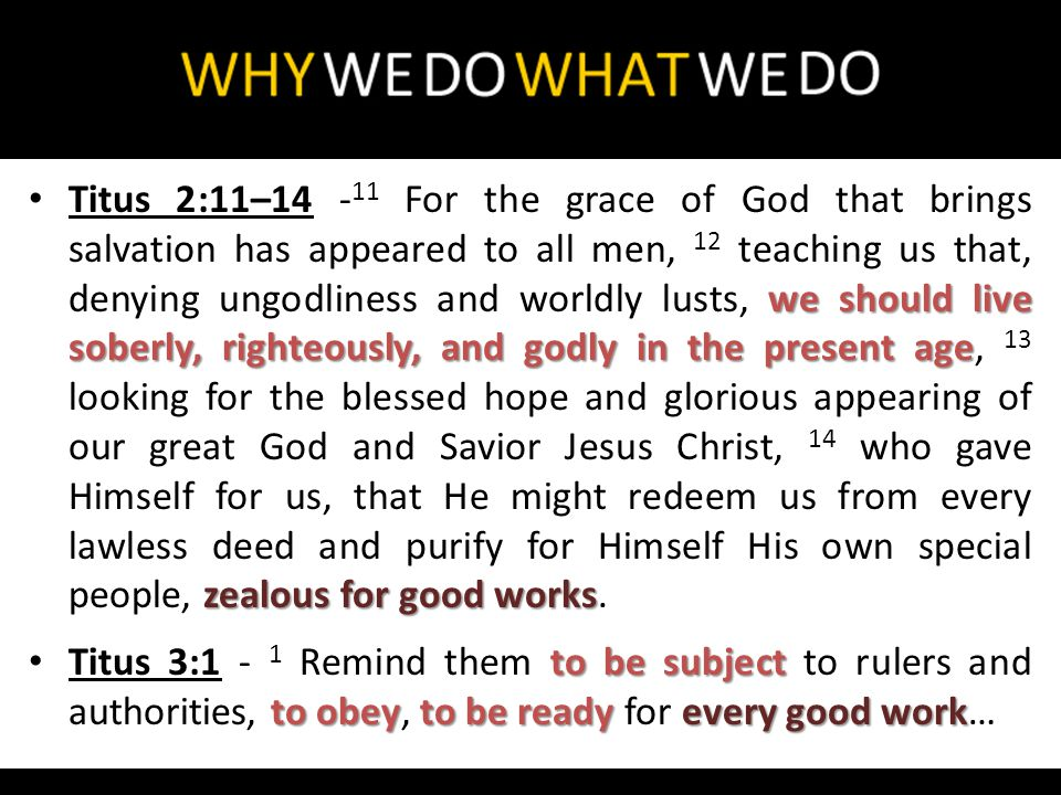 Let them do goodthat they be rich good worksready willing 1 Timothy 6:17–18 - 17 Command those who are rich in this present age not to be haughty, nor to trust in uncertain riches but in the living God, who gives us richly all things to enjoy.