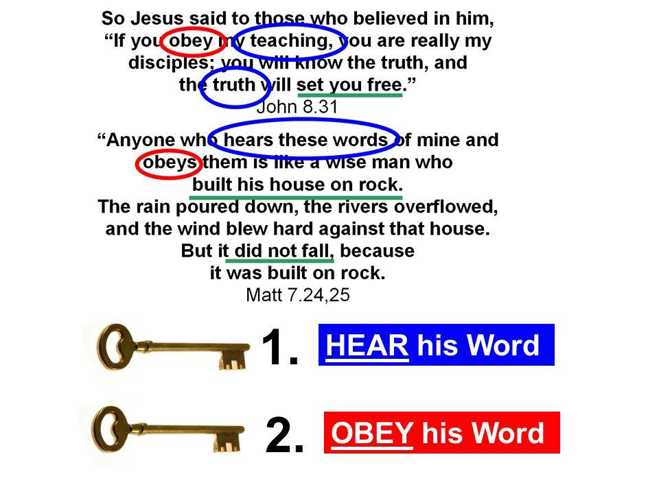 HEAR his Word OBEY his Word 1.2. 1. HEAR his Word 1.