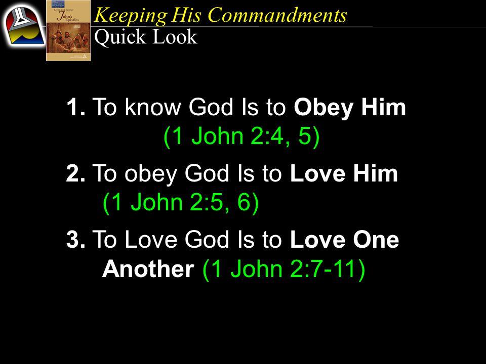 Keeping His Commandments 1.