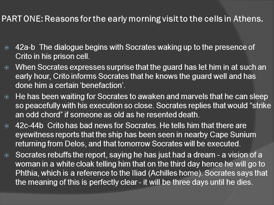 PART TWO: Crito's arguments why Socrates should escape.