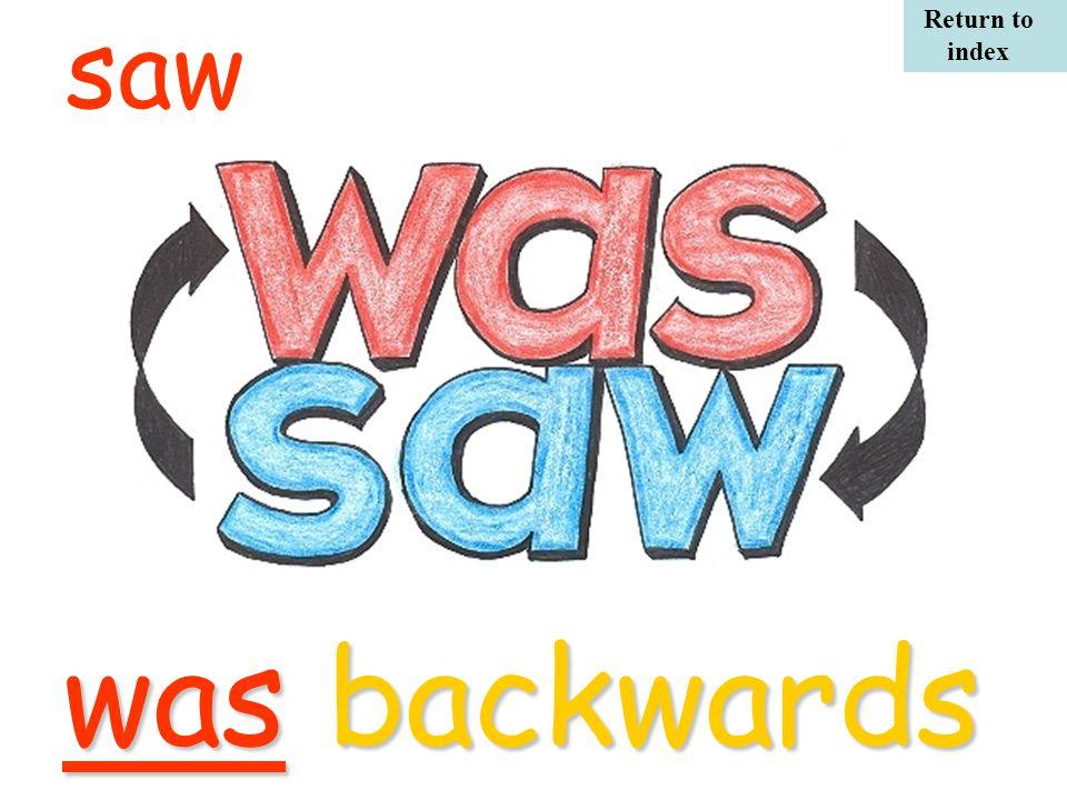 sawwas backwards Return to index