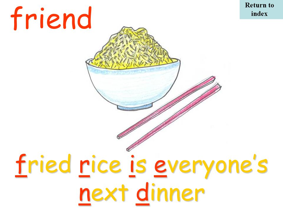 friendfried rice is everyone's next dinner Return to index